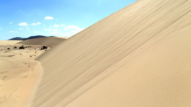The protected sand dunes area of the island. Photograph: Getty Images