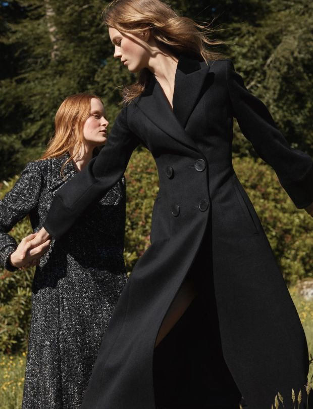 Black wool coat €349 and black and white wool fleck coat €349 both from Massimo Dutti a/w 2017