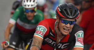 Nicola Roche's Vuelta hopes faded on Wednesday as he slipped to 11th place overall. Photograph: Javier Lizon/EPA
