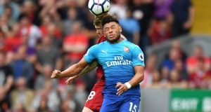 Arsenal's Alex Oxlade-Chamberlain is set to join Liverpool. Photograph: Anthony Devlin/AFP