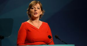 Irish ministers can speak Irish and have it translated at European meetings, but only with prior notice and in practice, few ever speak Irish. The Sinn Féin MEP Liadh Ní Riada (above) has made a number of speeches in the European Parliament in Irish. File photograph: Dara Mac Dónaill