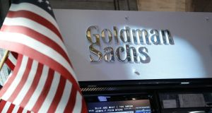 On Wall Street financials were among the leading gainers, with Goldman Sachs rising 1.23 per cent, providing the biggest boost to the Dow. Photograph: Brendan McDermid/Reuters