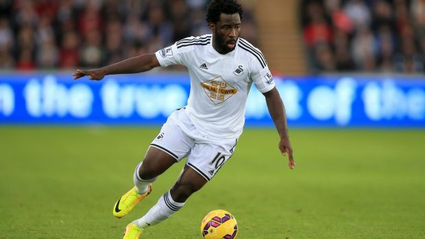 Wilfried Bony has returned to Swansea City. Photograph: Nick Potts/PA