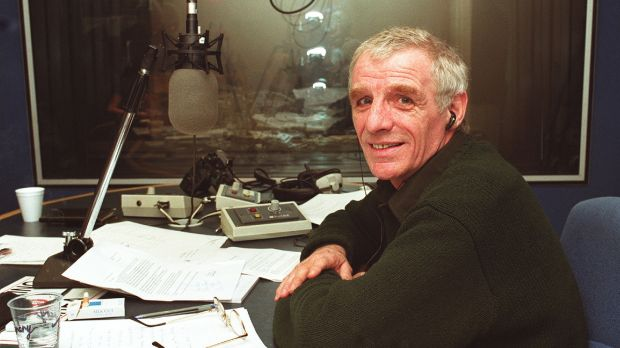 The Last Word: Eamonn Dunphy at Today FM in 2000. Photograph: Cyril Byrne