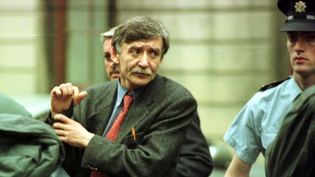 Informant: Sean O'Callaghan outside the High Court in Dublin after giving evidence in the Sunday Times libel case, in 1998. Photograph: Charlie Collins