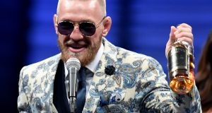 He's got bottle: after the Floyd Mayweather bout, Conor McGregor said he planned to sell an Irish whiskey called Notorious. Photograph:  Ethan Miller/Getty Images