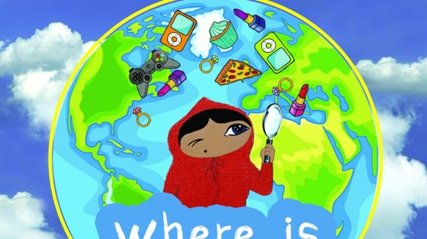 The cover for the second book, 'Where is Happy?'