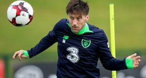 English-born Ireland player Harry Arter  may not know it, but it may be of benefit for an international player to be born outside the Republic. Photograph: Gary Carr/Inpho