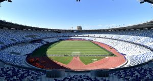 The Boris Paichadze Dinamo Arena in Tbilisi. It staged the Uefa Super Cup in 2015   between  Barcelona and Sevilla. Photograph: Getty Images