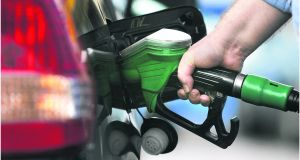 The Irish Petrol Retailers Association (IPRA) said its members would be hit with increases from Saturday. Photograph: Dara Mac Dónaill