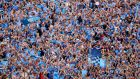 Blue Sunday: Dublin fans react to Con O'Callaghan's goal against Tyrone. Photograph: James Crombie/Inpho