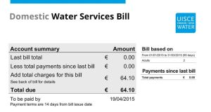 Irish Water: about a million households will benefit from the refunds, which will be for up to €325