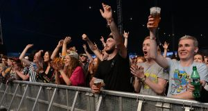 The Electric Picnic crowd showing their appreciation. Photograph: Dave Meehan