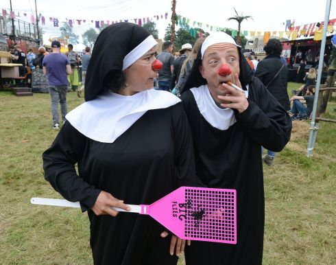 Sr Maria and Sr Mary in Trailer Park at Electric Picnic 2017 in Stradbally. Photograph: Dave Meehan/The Irish Times