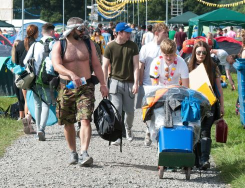 Early scenes as arrivals stream into the Electric Picnic in Stradbally Co Laois. Photographs: Dave Meehan/ The Irish Times and Gareth Chaney/Stephen Collins/Collins Photos