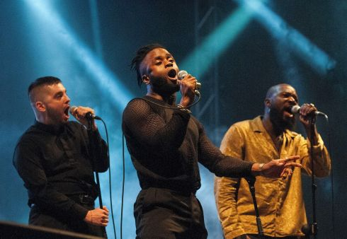 Young Fathers on stage at the Electric Arena at Electric Picnic 2017 in Stradbally. Photograph: Dave Meehan/The Irish times