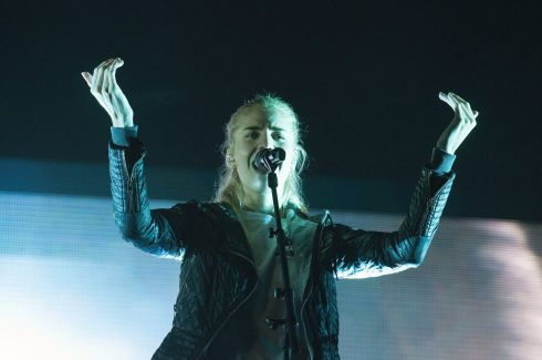 London Grammar on the main stage at Electric Picnic 2017 in Stradbally. Photograph: Dave Meehan/The Irish Times