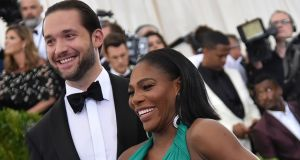 Tennis player Serena Williams and fiance Reddit co-founder Alexis Ohanian have welcomed a baby girl. Photograph: Mike Coppola/Getty Images