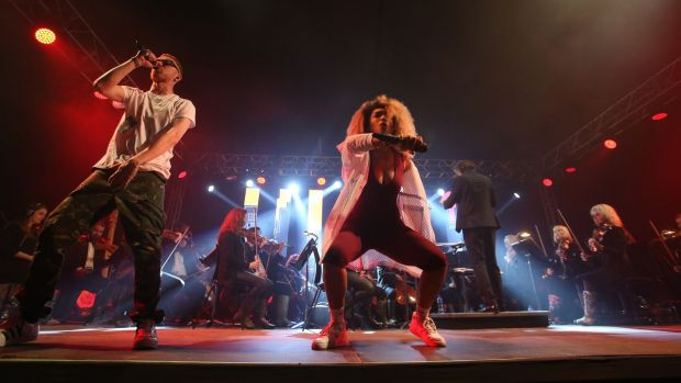 The Story of Hip Hop on Friday night was one of the most popular shows at Electric Picnic so far. Photograph: Niall Carson/PA Wire