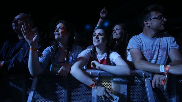 Music fans enraptured by the RTE Concert Orchestra at Electric Picnic on Friday. Photograph: Niall Carson/PA Wire