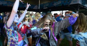 Revellers at Electric Ireland's Throwback Stage at Electric Picnic. Photograph: Cody Glenn/Sportsfile