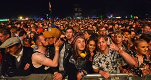 The Electric Picnic crowd at the Main Stage on Friday night. Photograph: Dave Meehan/The Irish times