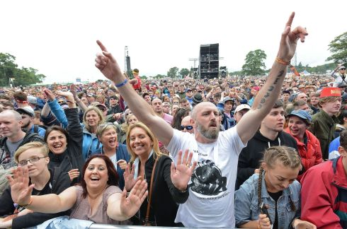 The crowd at the Main Stage for Madness on Saturday. Photograph: Dave Meehan/The Irish Times