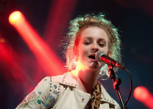 Katie Laffan wows the crowd on the  Other Voices stage. Photograph: Dave Meehan/The Irish Times