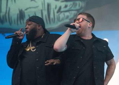 Run the Jewels on the Main Stage on Saturday night. Photograph: Dave Meehan/The Irish times