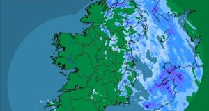 Heavy rain is expected to clear across Leinster this morning. Photograph: Met Éireann