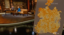 'Late Late Show' criticised for greying out Northern Ireland on map