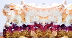 Yotam Ottolenghi and Helen Goh's Louise cake with plum and coconut