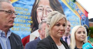 Sinn Féin's northern leader Michelle O'Neill outside the party's  headquarters in Belfast. The party has  rejected a DUP proposal for an an immediate restoration of the assembly in Northern Ireland. Photograph: Justin Kernoghan