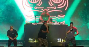 A Tribe Called Quest on the Main Stage at Electric Picnic. Photograph: Michael Donnelly