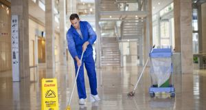 The contract cleaning services firm Noonan Services  generates 40 per cent of its revenue in the UK. Photograph: Getty Images