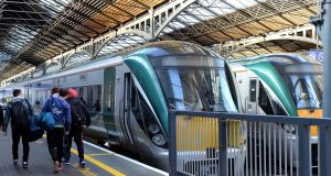 Iarnród Éireann staff are seeking increases along the lines of the 3.75 per cent annually secured by other workers in the transport sector. Photograph: Eric Luke