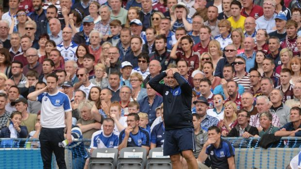 Waterford manager Derek McGrath saw his side narrowly beaten by Galway. Photograph: Piaras Ó Mídheach/Sportsfile via Getty