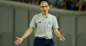 "Martin O'Neill says the Serbs are technically better than Ireland but that his players will put their ""heart and soul"" into it. Photograph:  David Mdzinarishvili/Reuters"