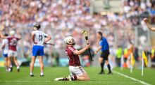 Joe Canning of Galway celebrates  at Croke Park in Dublin. Photograph:  (Photo By Eoin Noonan/Sportsfile via Getty Images