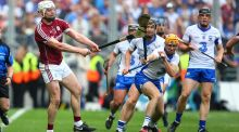 Galway's Joe Canning in action against Tommy Ryan of Waterford. Canning was flawless on the frees during his side's win on Sunday in Croke Park. Photograph: Cathal Noonan/Inpho