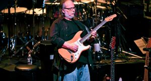 Walter Becker of  Steely Dan performing in 2011 in New York. The groundbreaking guitarist and songwriter died on Sunday aged 67. Photograph: Chad Batka/The New York Times