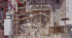 Excavation site of the NHS high-energy proton beam therapy centre in central London