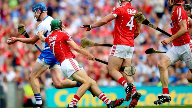 Austin Gleeson dances through Cork to score one of the goals of the summer. Photograph: James Crombie/Inpho