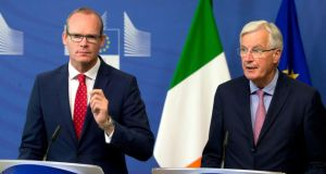 Coveney-Barnier talks: Ireland and the commission are disappointed with the UK's lack of detail. Photograph: Virginia Mayo/AP