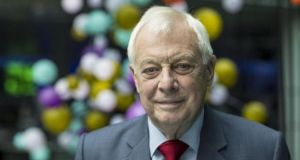 Chris Patten will speak about his recently released biography 'First Confession: A Sort of Memoir'. Photograph: David Levenson/Bloomberg