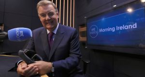 RTÉ presenter  Bryan Dobson  will continue to be a key presenter for its television coverage of special State events including the forthcoming budget after he moves to Morning Ireland. Photograph:    Donall Farmer