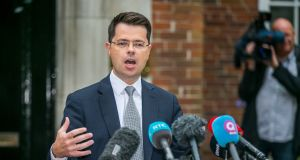 "Northern Secretary James Brokenshire: ""We can't see this political impasse continuing much longer."" Photograph: PA Wire"