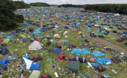 CLEAN-UP BECKONS: A sea of discarded tents and other detritus left at the Electric Picnic music and arts festival site in Stradbally, Co Laois. Photograph: James Flynn/APX