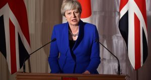 British prime minister Theresa May  will meet her cabinet on Tuesday for the first time since she told reporters last week that she wants to serve a full term. Photograph: Kazuhiro Nogi/Reuters