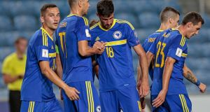 As things stand, Bosnia Herzegovina will not qualify for a playoff, despite being in second place in their group. Photograph: PA